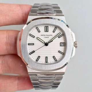 玩具錶 百達翡麗Patek Philippe Nautilus 5711/1A-011 白面 PF 最高版本 鋼錶之王 面交