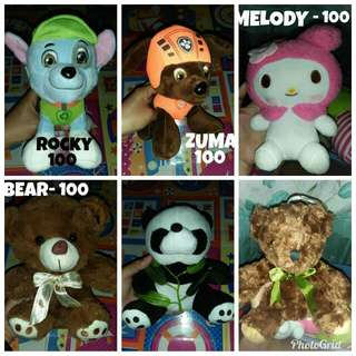 Stuff Toys (300 take all)