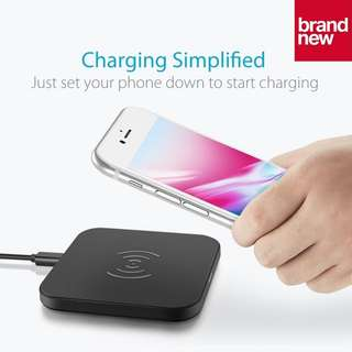 (Brand New) CHOETECH 7.5W Wireless Qi Fast Charger Charging Pad for iPhone 8 / X, Galaxy S9 / S9+ / Note 8 - $20