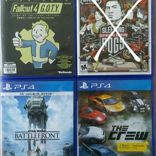 Ps4遊戲: Fallout 4, Star wars battlefront, The crew