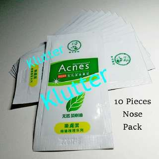 Klutter $7 - 10 Pcs Mentholatum Tea Tree Nose Pore Packs Strips White