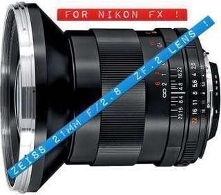 ZEISS 21mm - NIKON 💟 f2.8 *ZF.2 for NIKON* ✅ NEAR MINT