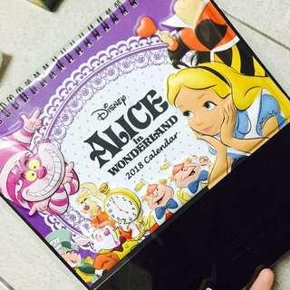 ✅2018 正版授權迪士尼愛莉絲夢遊仙境年曆