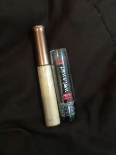 Wet n' wild lipstick and skinfood rice concealer