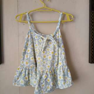 FLORAL SLEEVELESS HANGING TOP