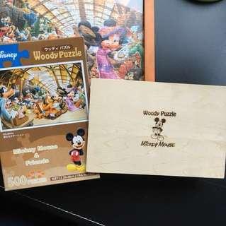 日本 迪士尼 木製拼圖 500片 小尺寸(不含框)