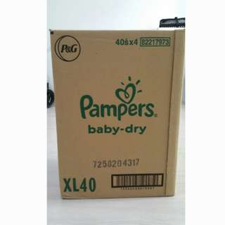 Pampers dry tapes XL