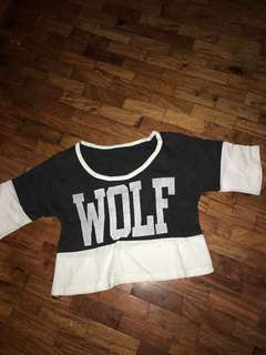 Wolf (cropped top)