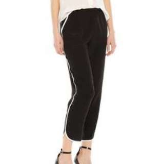 Silk dress pant with white side stripe