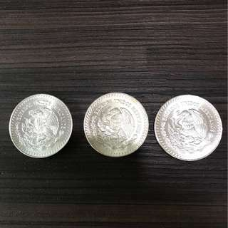 Silver coins from Mexico ( 3 Pieces ) Negotiable