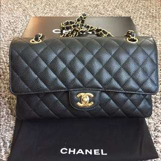 NEW Chanel Classic medium flap (荔枝皮)