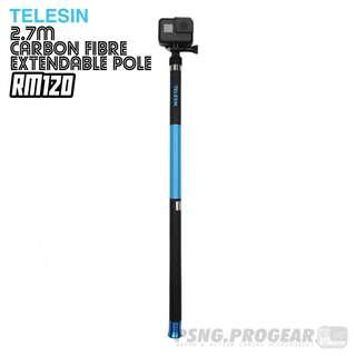 TELESIN 2.7m Long Carbon Fibre Extendable Pole