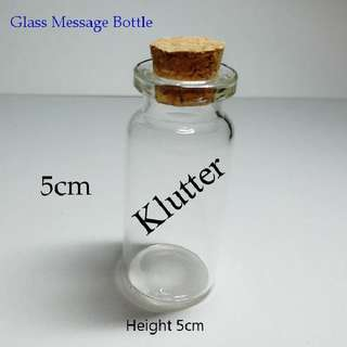 Klutter $5 - Small Glass Fragile Message Bottles Birthdays Gift Presents (For Lucky Stars)