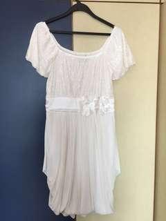 White Silky Dress