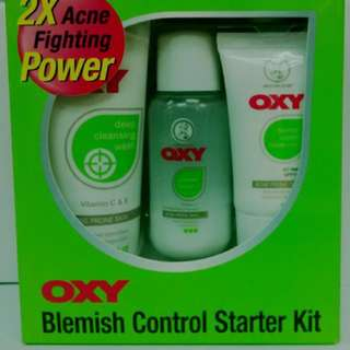 Preoder-Oxy 123 Set (Deep Cleansing Wash 50g + Powder Lotion 50ml + Blemish Control Moisturizer 20g)