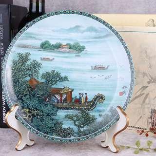 限量版名家繪制皇家景德鎮瓷器古董瓷盤
