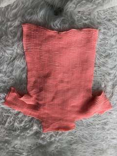 Issey miyake salmon pink top