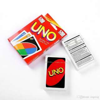Uno card. Uno cards