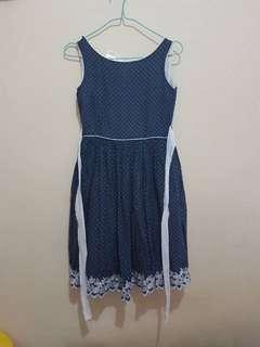 Blue Polka Dress