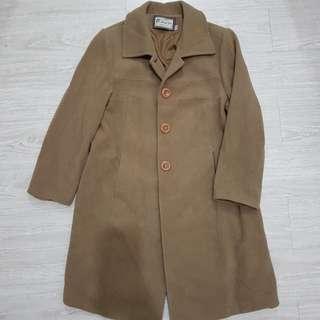 復古/古著 毛料長大衣外套-L號