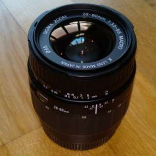 Sigma 28-80mm for Minolta/Sony AF with macro function (A-mount)
