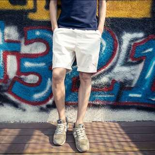 Summer 夏情侣短裤五分 couple man woman 純色短褲