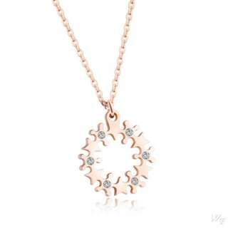 Titanium steel necklace TN135