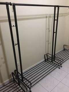 Rustic clothing rack