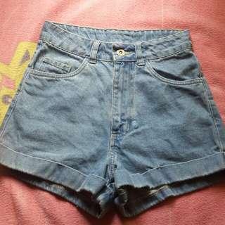 Factorie Highwast Mom Denim Shorts