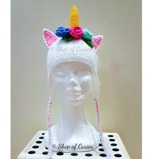 Handmade Crochet Unicorn Hat (Girls)