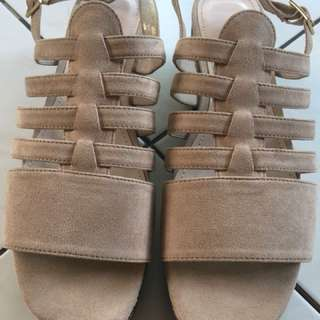 Charles and Keith wedge sandals/shoes/women's shoes