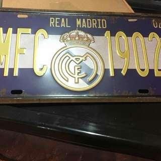 Metal Plat Real Madrid