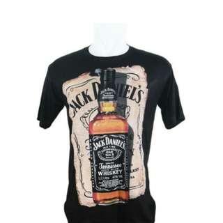 Vanwin - Kaos T-Shirt Distro Premium Jack Daniel - Hitam