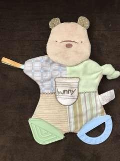 Classic Winnie the Pooh Teething Blanket