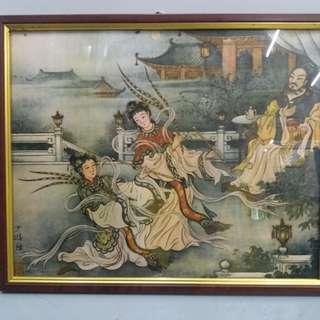家中收藏60年代駱駝漆二十四孝廣告畫兩幅380元