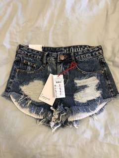 Cotton On - Ripped Denim Shorts