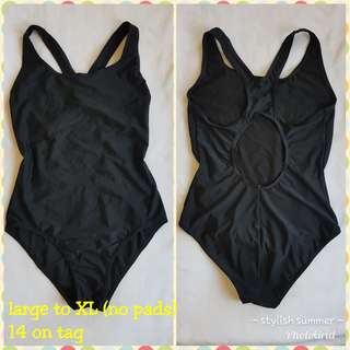 One piece swimsuit fits large to XL