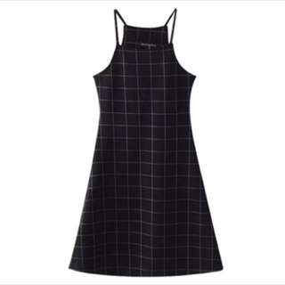 Black Grid Dress