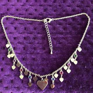 "Heart shaped Necklace 16""(40+5cm) 心形鏈"