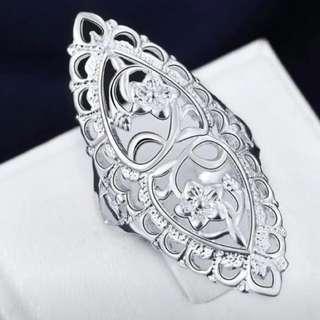 925 Stamped Ring Size 8
