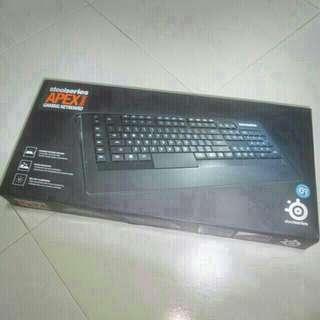 Steelseries APEX (RAW) Gaming Keyboard.
