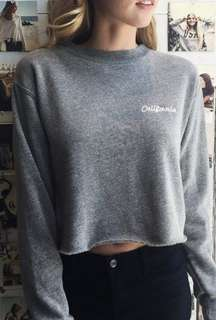 Brandy Melville Nancy California grey sweatshirt