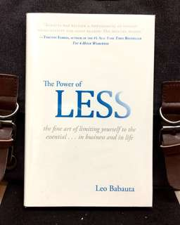 # Highly Recommended《New Book Condition + Hardcover Edition + Do Less Get More Done》Leo Babauta - THE POWER OF LESS : The Fine Art of Limiting Yourself to the Essential...in Business and in Life