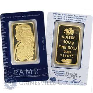 Limited 999 Gold coins, some 999 bars