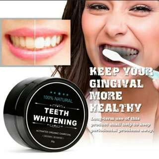 💞Proffesional Oral Care Activated Charcoal Teeth Whitening Oral Hygiene Cleaning Powder💞