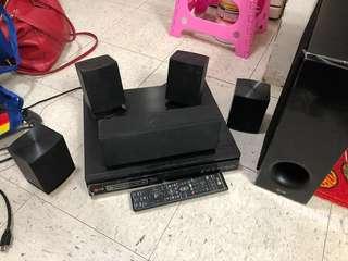 Lg blue ray 家庭影音組合 喇叭套裝 音響