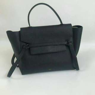 Celine mini belt bag black grained ghw 2015  Cards  + Db