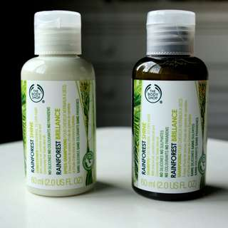 the body shop rainforest shampoo and conditioner
