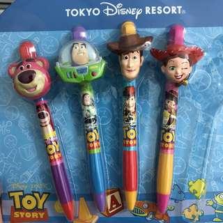 日本迪士尼 東京 原子筆 反斗奇兵 巴斯光年 胡迪 翠絲 勞蘇 三眼仔