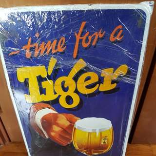 Enamel sign board - Tiger Beer